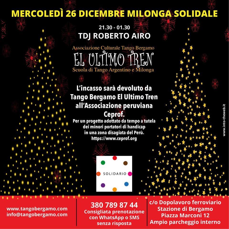 Milonga Solidale Tren & Solidario 2018